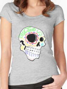 Sugar Skull Women's Fitted Scoop T-Shirt