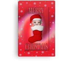 Cute Christmas Card Canvas Print