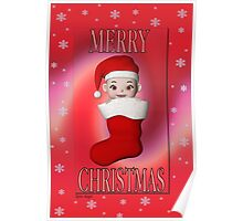 Cute Christmas Card Poster