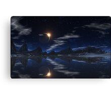 Eclipse at Lake Trasson. Canvas Print