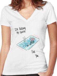 Swimming Pool TFB Women's Fitted V-Neck T-Shirt
