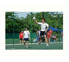 Handball competition Art Print