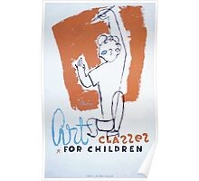 WPA United States Government Work Project Administration Poster 0256 Art Classes for Children Poster