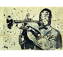 Louis Armstrong. Photographic Print
