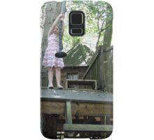off she goes on the zip wire Samsung Galaxy Case/Skin