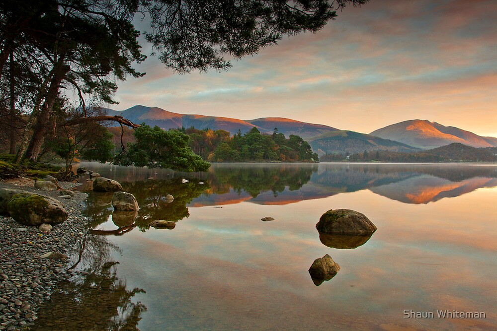Dawn sunlight on Blencathra summit by Shaun Whiteman