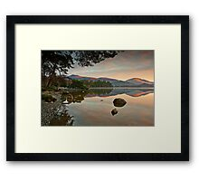 Dawn sunlight on Blencathra summit Framed Print