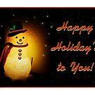 Frosty's Holiday Glow card by bicyclegirl