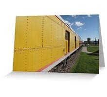 Railroad Train Greeting Card
