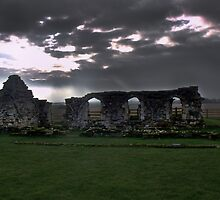 Storm over Mattersey Priory by ANDREW BARKE