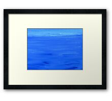 Blue Atmosphere. Framed Print