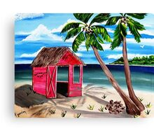 Pink CoCoNut Hut Canvas Print