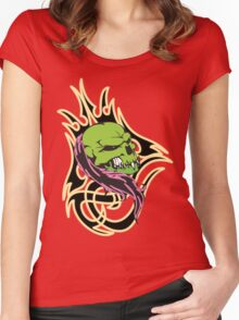 Green-devil Women's Fitted Scoop T-Shirt