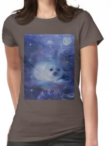 Baby Seal on Ice Womens Fitted T-Shirt