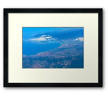 Areal view on Azure coast in Nice, France Framed Print