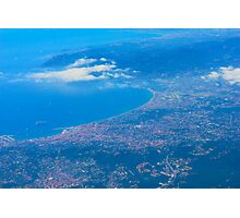Areal view on Azure coast in Nice, France Photographic Print