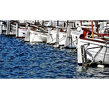 Pretty boats all in a row.... Photographic Print