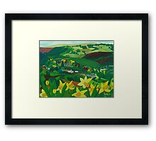How green is my valley Framed Print
