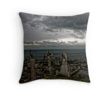 Silenced by beauty  Throw Pillow