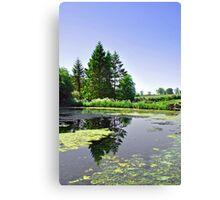 Village Pond, Tissington Canvas Print