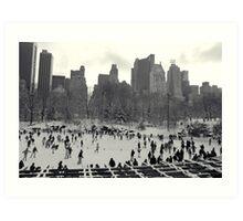 Ice Rink Central Park Art Print