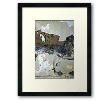 industrial urban wall: interprits rurality Framed Print