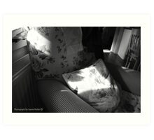 A Seat in the Sun - Cottage Interior, County Donegal. Art Print