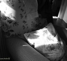 A Seat in the Sun - Cottage Interior, County Donegal. by Laura Butler