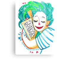 A girl who loves books Metal Print