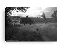 Low lying Thatch on the Foothills, Killbegs, Donegal. Metal Print