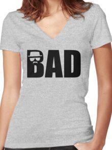 Bad - Breaking Bad Heisenberg Women's Fitted V-Neck T-Shirt