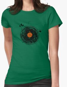Enchanting Vinyl Records Vintage Womens Fitted T-Shirt