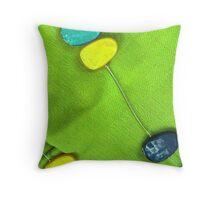 Blue & Green Throw Pillow