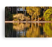 Reflections of White Patch - Bribie Island Canvas Print