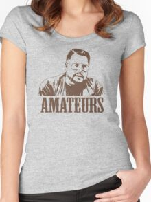 The Big Lebowski Walter Sobchak Amateurs T-Shirt Women's Fitted Scoop T-Shirt