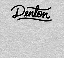 Brush Script Denton, Texas Hoodie
