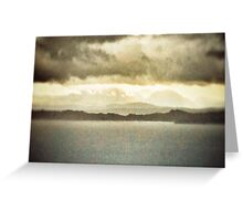 Over the seas from Skye Greeting Card