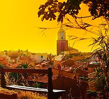 Golden Sunset over Saint Tropez - The French Riviera by Atanas Bozhikov Nasko