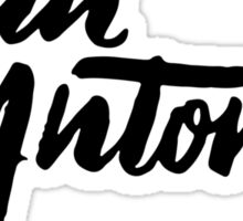 Brush Script San Antonio, Texas Sticker