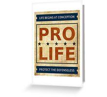 Pro Life Billboard Greeting Card