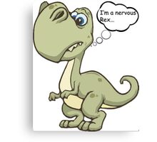 Nervous rex Canvas Print