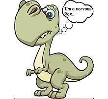 Nervous rex Photographic Print