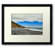Walking On The Lost Coast Framed Print