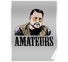 The Big Lebowski Walter Sobchak Amateurs Color T-Shirt Poster