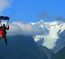 """tandem II""  fox glacier, south island, nz by rina  thompson"