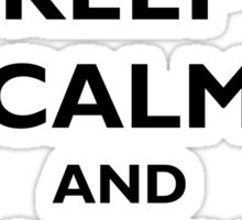Keep Calm and Llama On Sticker