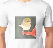 YELLOW HEADED WARBLER ON PERCH Unisex T-Shirt