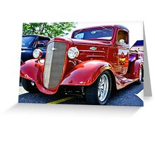 Custom Chevy Hot Rod Truck Greeting Card