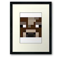 Minecraft Cow Framed Print