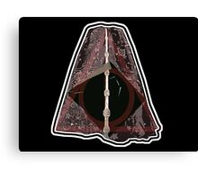 Deathly Hallows Harry Potter illuminati stamp Canvas Print